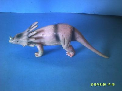 Hard Rubber Spiked Hooded Styracosaurus Dinosaur Model Toy