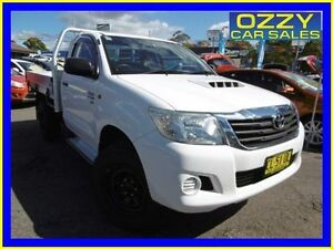 2012 Toyota Hilux KUN26R MY12 SR (4x4) White 4 Speed Automatic Cab Chassis Penrith Penrith Area Preview