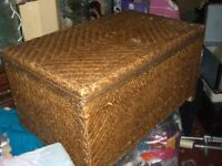 LARGE TRUNK / CHEST / STORAGE / TABLE / WICKER - CLACTON ON SEA - CO15 6AJ