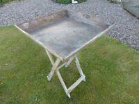Butlers Tray - Rustic - with stand.