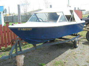 14'  Motorboat and Trailer for sale