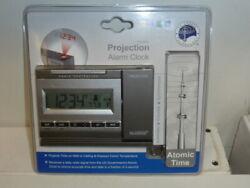 New la Crosse Technology Projection Alarm Clock Atomic Time WT-5720 Tempterature