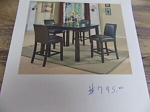 Dining Sets All New 5 and 7 Pce Sets. TAX INCL>Call 727-5344
