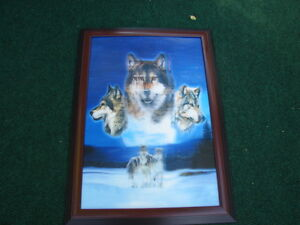 Wolf Picture 3-d and Oil painting by E-Max & Pinky and Blue Boy