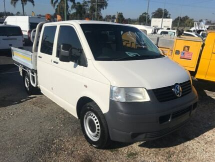 2009 Volkswagen Transporter T5 MY08 (LWB) White 6 Speed Tiptronic Dual Cab Chassis Loganholme Logan Area Preview