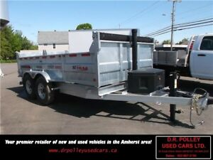 2017 K-TRAIL 14FT GALVANIZED DUMP TRAILER