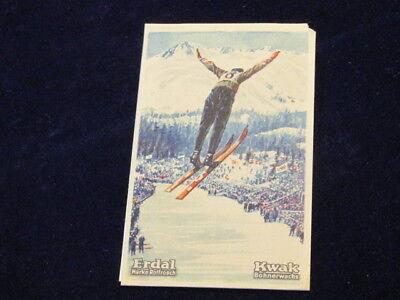 Vintage 1928 Unser Bild Germany Olympics St Moritz Ski Jump Erdal Kwak   Q639