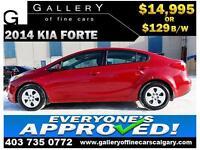 2014 Kia Forte LX $129 bi-weekly APPLY TODAY DRIVE TODAY