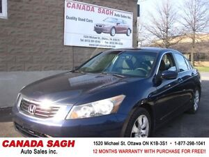 2008 Honda Accord AUTO, LOADED, ROOF, 12M.WRTY+SAFETY $7990