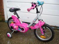 BTWIN GIRA BIKE WITH STABILISERS 3-5 years BICYCLE