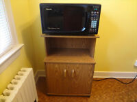 "Panasonic ""Genius Premier"" microwave with cart"