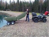 ITS A BOAT AND AN ATV TRAILER ALL IN ONE STARTING AT $3495