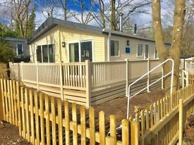 Lodge with private garden,decking, piped gas,swimming pool,not static caravan,hastings, not coghurst