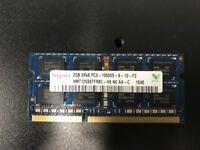 20 x 2GB Laptop/Small PC DDR3 RAM PC3-10600 speed