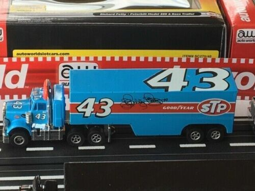 NOS Auto World Richard Petty R Racing Semi Rig HO Xtraction Slot Car Runs On AFX