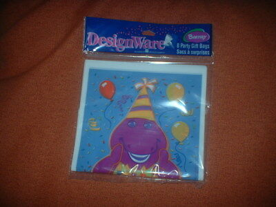 BARNEY LOOT GIFT BAGS BIRTHDAY PARTY SUPPLIES New Sealed Pdg FREE SHIPPING