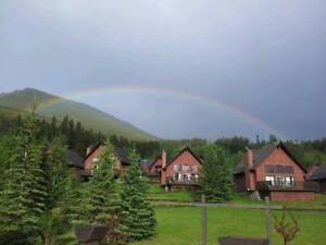 One week in free standing Mountain Chalet, near Banff Park