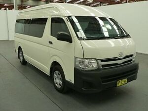 2011 Toyota Hiace TRH223R MY11 Upgrade Commuter White 4 Speed Automatic Bus Fyshwick South Canberra Preview