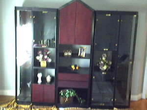 Custom built Curio / Entertainment / Wall Unit
