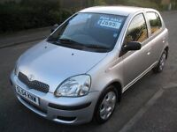 2004 Toyota Yaris 1.3 VVT-i T3 Silver 5dr Hatchback Manual Petrol Only 44000 miles FSH