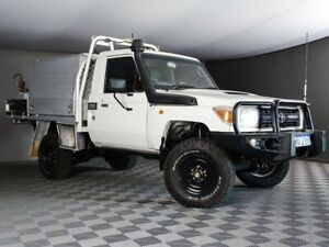 2011 Toyota Landcruiser VDJ79R MY10 Workmate White 5 Speed Manual Cab Chassis Maddington Gosnells Area Preview