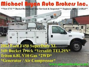 2003 FORD F450 34FT BUCKET TRUCK **GREAT FALL PRICE**
