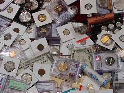 ESTATE LOT/ SILVER / GOLD / CURRENCY / MINT & PROOF SETS / BARS / COINS