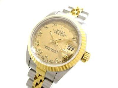 Auth ROLEX Datejust 69173 Gold Women