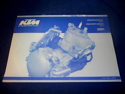 KTM Spare Parts Manual Engine 2001 125 200 SX MXC EXC