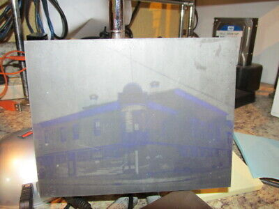 Old Metal Printing Plate St. Louis De France Church Building Lowell Mass