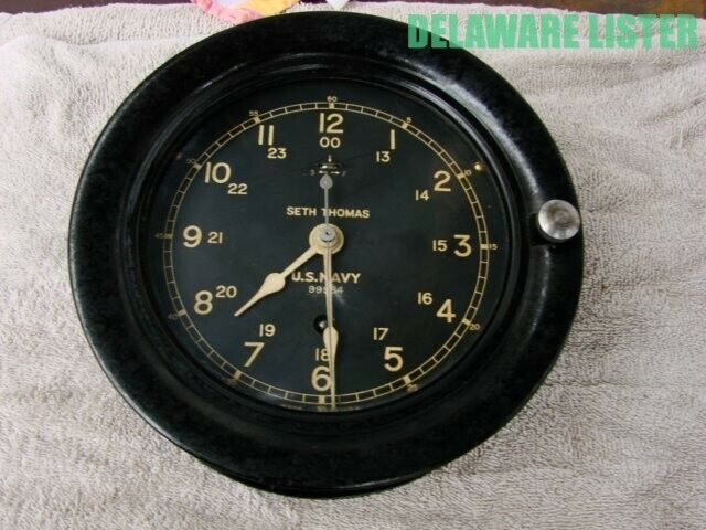 Vintage WWII WW2 US Military U.S. NAVY SHIP Nautical CLOCK SETH THOMAS