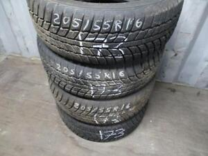 205/60 R17 WINTER EVERGREEN TIRES USED SNOW TIRES (SET OF 4 - $300.00 INS+BAL) - APPROX. 85% TREAD