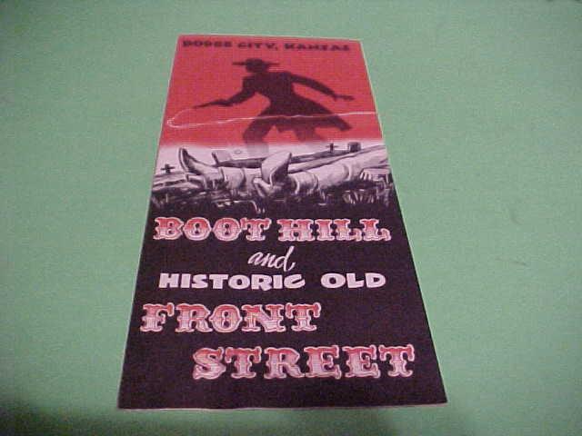 VINTAGE BROCHURE HISTORIC OLD FRONT STREET  BOOT HILL DODGE CITY KANSAS
