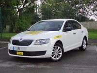 2015 Skoda Octavia White 1.6 Tdi Zero Tax Excellent Condition, Manchester Taxi Plated Ready for work