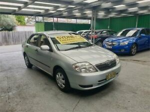 2002 Toyota Corolla ZZE122R Ascent Silver 4 Speed Automatic Sedan Croydon Burwood Area Preview