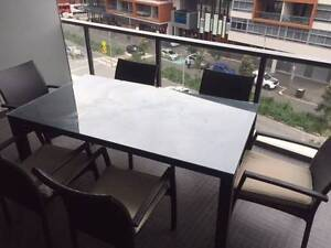 Glass Top outdoor dining table and chairs Waterloo Inner Sydney Preview