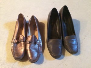 Chaussures style loafers gris