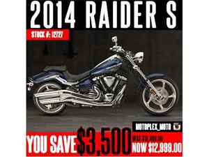 Yamaha Raider S @ Blowout Pricing