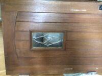 Set of 2 Solid Hard Wood Exterior Doors