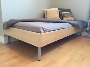 IKEA Frame and Slatted Bed base and mattress