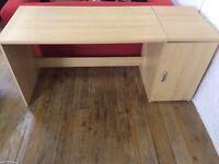 IKEA desk and side cupboard