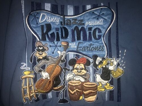 Disneyland JAZZ Kid Mic & the EARtones Retro Adult Shirt Size XL