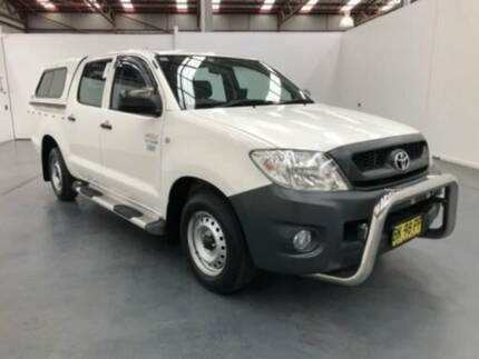 2011 Toyota Hilux TGN16R MY11 Upgrade Workmate White 4 Speed Automatic Dual Cab Pick-up
