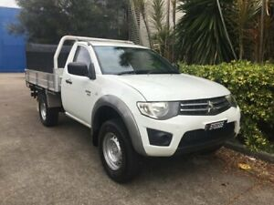 2012 Mitsubishi Triton MN MY12 GLX (4x4) White 5 Speed Manual 4x4 Cab Chassis Bowen Hills Brisbane North East Preview