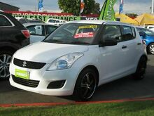 2012 Suzuki Swift  White 5 Speed Automatic Hatchback Capalaba Brisbane South East Preview