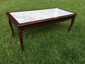 Mahogany Coffee Table with 2 matching side tables. London Ontario image 3