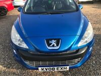 2008 PEUGEOT 308 DIESEL VERY GOOD CONDITION WITH LEATHER SEATS ECONOMICAL AND RELIABLE DRIVES SUPER