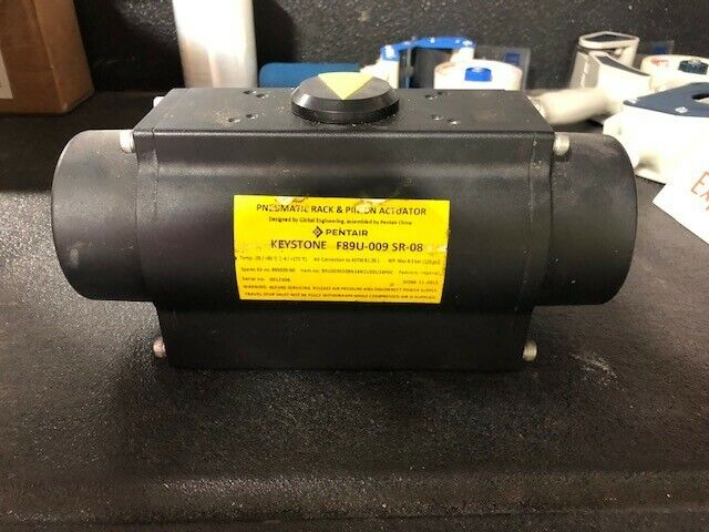 Pentair Keystone Pneumatic rack and pinion Valve Actuator (Pn: F89U-009 SR-08)