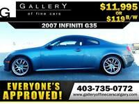 2007 Infiniti G35 Coupe $119 bi-weekly APPLY TODAY DRIVE TODAY