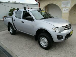2009 Mitsubishi Triton MN MY10 GLX Silver 5 Speed Manual Dual Cab Utility South Nowra Nowra-Bomaderry Preview